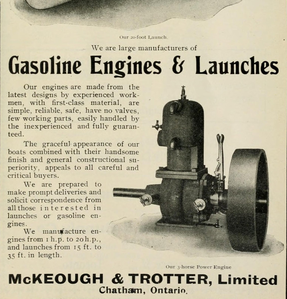 McKeough & Trotter Limited Engines and Launches